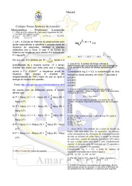 apostila 7 logaritmo - Colégio Nossa Senhora de Lourdes