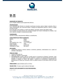 Ficha Técnica - Quimilaus Indústria Química