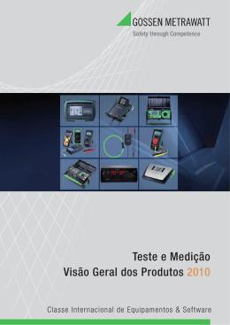Equipamentos de Medição - Catálogo 2010