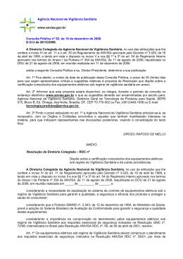 Proposta de Resolução que dispõe sobre a certificação compulsória