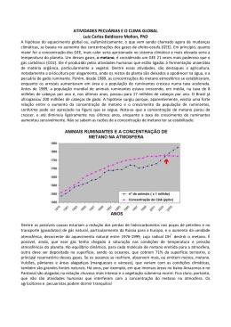 ATIVIDADES PECUÁRIAS E O CLIMA GLOBAL Luiz Carlos