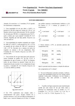 Curso: Engenharia Civil Disciplina: Física Geral e Experimental II