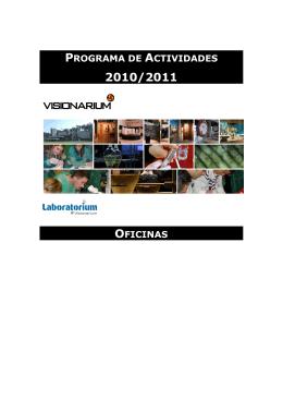 PROGRAMA DE ACTIVIDADES OFICINAS