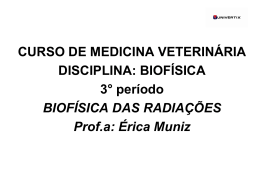 CURSO DE MEDICINA VETERINÁRIA DISCIPLINA