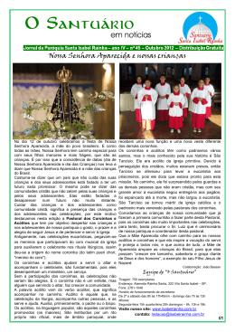 45ª edição | Outubro - Paróquia Santa Isabel Rainha