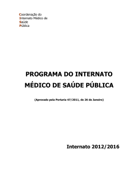 programa do internato médico de saúde pública