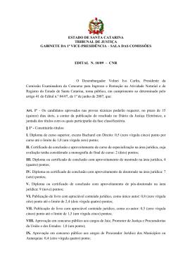 Edital nº 10/09 - Poder Judiciário de Santa Catarina