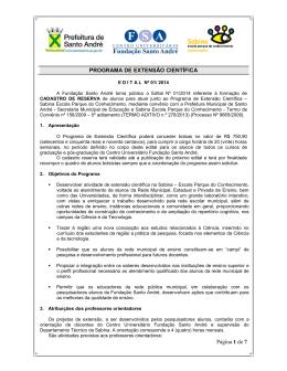 Página 1 de 7 PROGRAMA DE EXTENSÃO CIENTÍFICA