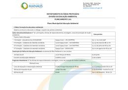 Plano Municipal de Educação Ambiental – Planejamento