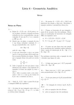 Retas - Geometria Analítica
