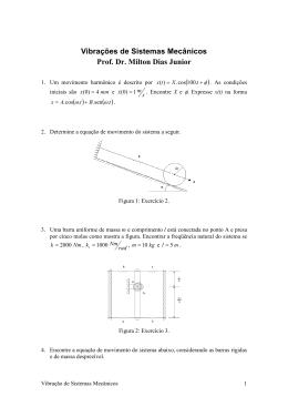 Vibrações de Sistemas Mecânicos Prof. Dr. Milton Dias Junior ( ( ) ( )t