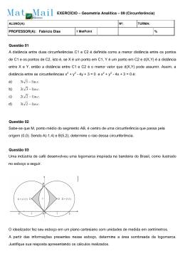 Lista 09 - Geometria Analítica