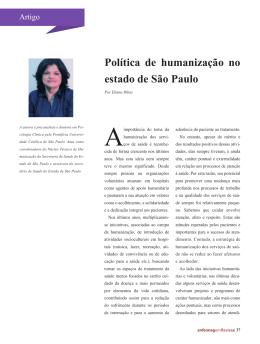 Política de humanização no estado de São Paulo