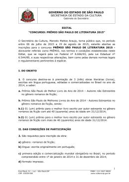GOVERNO DO ESTADO DE SÃO PAULO SECRETARIA DE