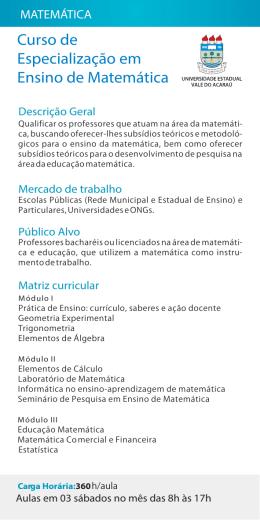Ensino de Matemática.cdr
