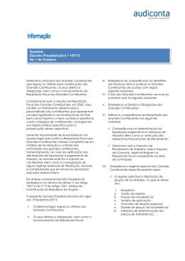 Decreto Presidencial Nº 147/13 – Estatuto dos Grandes