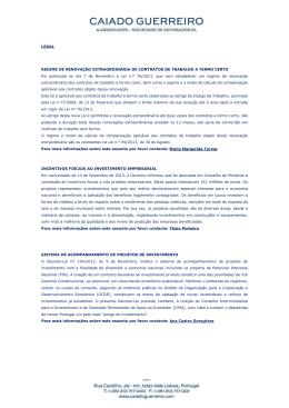Newsletter Dezembro 2013 - Caiado Guerreiro & Associados
