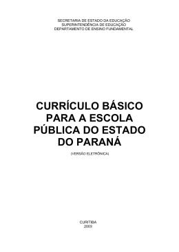 Currículo Básico para a Escola Pública do Estado do Paraná