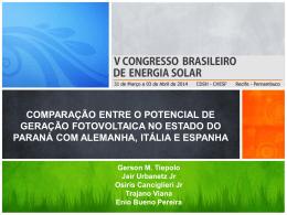 """iso-8859-1""""Apresentação Potencial Paraná – V CBENS"""