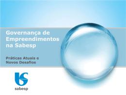 Governança de Empreendimentos na Sabesp