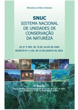 Sistema Nacional de Unidades de Conservação da Natureza (SNUC)