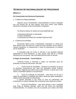 TÉCNICAS DE RACIONALIZAÇÃO DE PROCESSOS