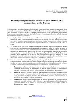 Declaração conjunta sobre a cooperação entre a ONU e a