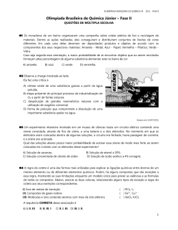 Olimpíada Brasileira de Química Júnior – Fase II