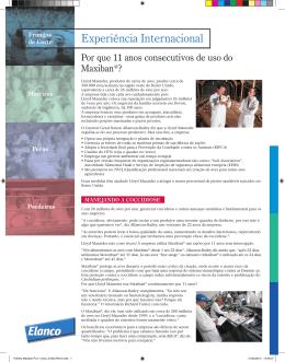Folheto Maxiban 11 anos