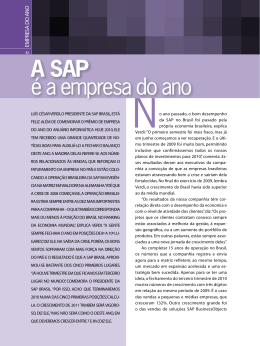 é a empresa do ano A SAP