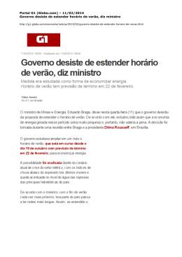 Portal G1 (Globo.com) - Instituto Acende Brasil