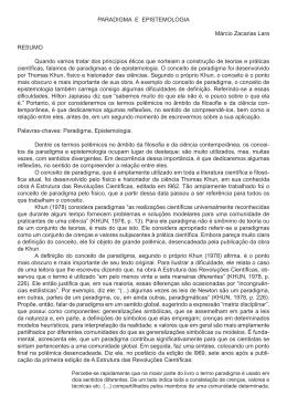 PARADIGMA E EPISTEMOLOGIA Márcio Zacarias Lara