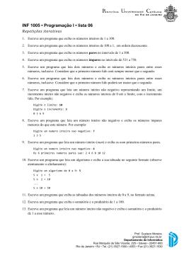 Repetições - Departamento de Informática - PUC-Rio