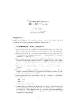 Ficha de Trabalho nº 1 (Atrib+Exp+Estr Controlo)