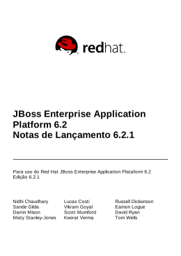 JBoss Enterprise Application Platform 6.2 Notas de Lançamento 6.2.1