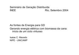 Seminário de Geração Distribuída INEE Rio, Setembro