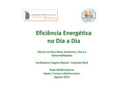 Eficiência Energética no Dia a Dia