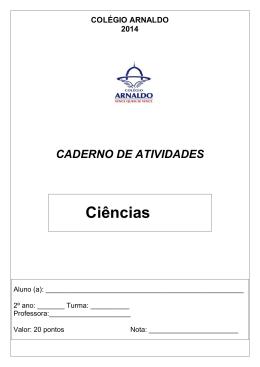 Ciências - Colégio Arnaldo