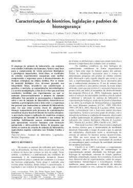 Caracterização de biotérios, legislação e padrões de