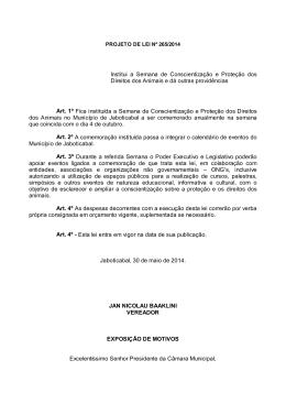 Projeto de Lei nº 265/2014