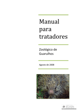 Manual para tratadores ? Zoológico de Guarulhos
