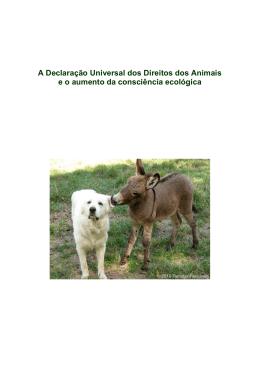 A Declaração Universal dos Direitos dos Animais e o aumento da