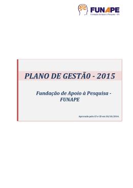 PLANO DE GESTÃ0 - 2015