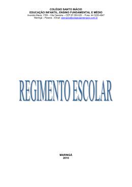 Regimento Escolar - Colégio Santo Inácio