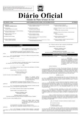 Edital - Diário Oficial