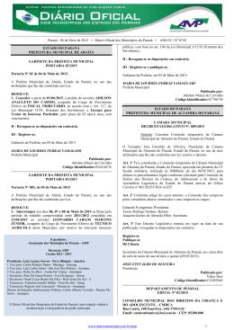 Diário Oficial dos Municípios do Paraná nº 742 - Data: 06-05