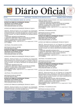 Ministério Público da Paraíba João Pessoa - Terça