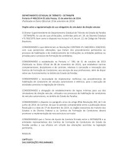 Portaria DETRAN/PB 496-2014