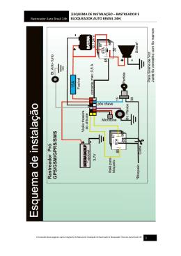 esquema de instalação – rastreador e bloqueador auto brasil 24h