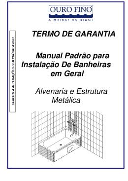 Manual da Banheira